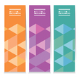 Set Of Three Colorful Geometric Vertical Banners vector image vector image
