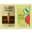 set stylish farm fresh flyer template or vector image vector image