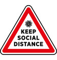 social distancing signage or floor sticker vector image