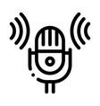 sound microphone voice control icon vector image
