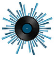 sound scale with vinyl record vector image