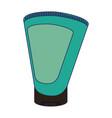 spa massage cream bottle blue lines vector image