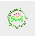 Spring sale lettering calligraphy vector image vector image