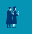 students successful graduation concept education vector image