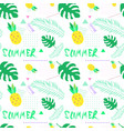 summer seamless pattern with colorful tropical vector image vector image