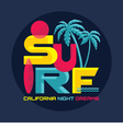 Surf - California - logo badge vector image vector image