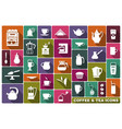 symbols tea and coffee vector image vector image