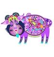 tribal art in karakoko style folk ethnic animal vector image vector image