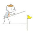 walking a tightrope vector image vector image