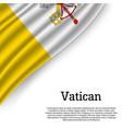 waving flag of vatican vector image vector image