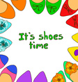 with ballet flats shoes vector image vector image