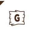 wooden alphabet or font blocks with letter g vector image vector image
