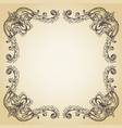 calligraphic page decoration hand drawn antique vector image