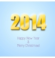 New year 2014 background gold numbers vector image