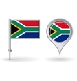 South African pin icon and map pointer flag vector image