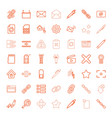 49 interface icons vector image vector image