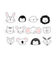 a poster with portraits different cute animals vector image vector image