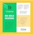air turbine business company poster template with vector image vector image