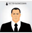 angry businessman avatar businessman icon vector image