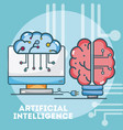 artificial intelligence concept cartoons vector image