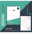 brochure cover design template with vector image vector image