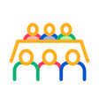 business meeting icon outline vector image