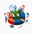 business statistics web banner vector image