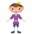 cartoon prince vector image vector image