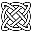 celtic knot symbol eternal life infinity vector image vector image