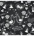 Chalkboard seamless floral pattern vector image vector image