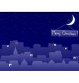 christmas night vector image vector image