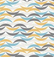 Color waves seamless pattern Abstract background vector image vector image