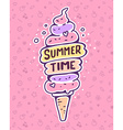 colorful of very high ice cream with inscrip vector image vector image