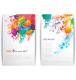 Colorful splash banners vector image