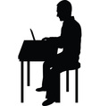 Computer Man Black vector image vector image