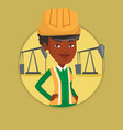 confident oil worker vector image vector image