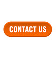 contact us button us rounded orange sign vector image vector image