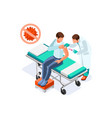 corona virus symptoms treatment vector image vector image
