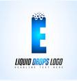 creative liquid drops letter logo design vector image