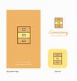 cupboard company logo app icon and splash page vector image vector image