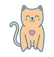 cute kitty icon vector image