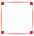 decorative canadian border with red maple leaf vector image vector image