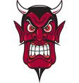 devil head logo mascot vector image vector image