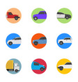 different vehicles flat icons vector image vector image