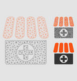 drugstore mesh 2d model and triangle mosaic vector image vector image