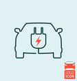 electric car icon isolated vector image vector image