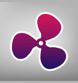 fan sign purple gradient icon on white vector image vector image