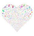 flora plant fireworks heart vector image vector image