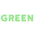 green text mosaic of dots vector image vector image