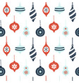 hand drawn seamless pattern with cute christmas vector image vector image